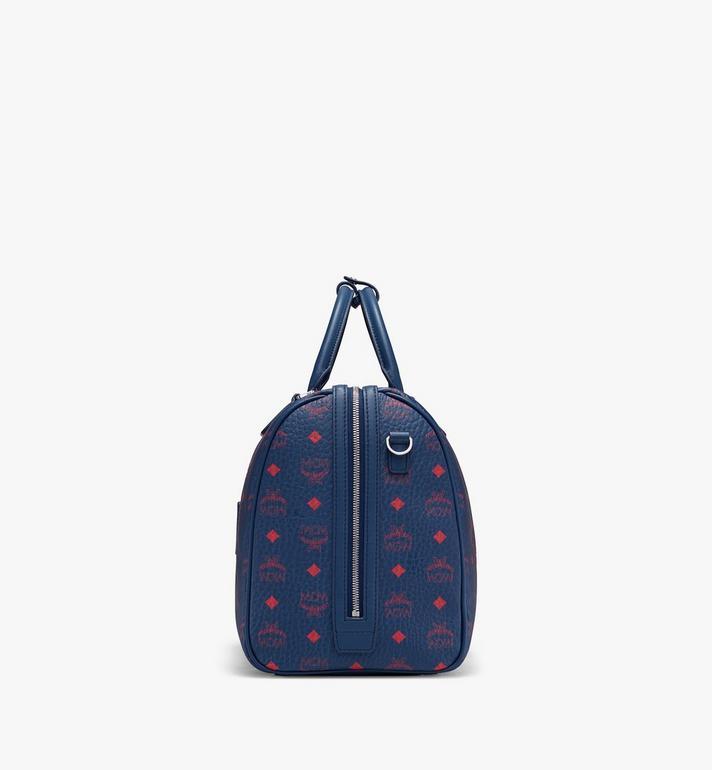 MCM Traveler Weekender Bag in Visetos Blue MUV9AVY51VS001 Alternate View 2