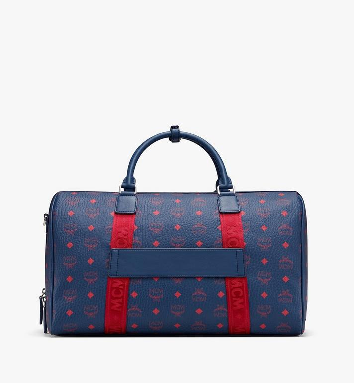 MCM Traveler Weekender Bag in Visetos Blue MUV9AVY51VS001 Alternate View 3