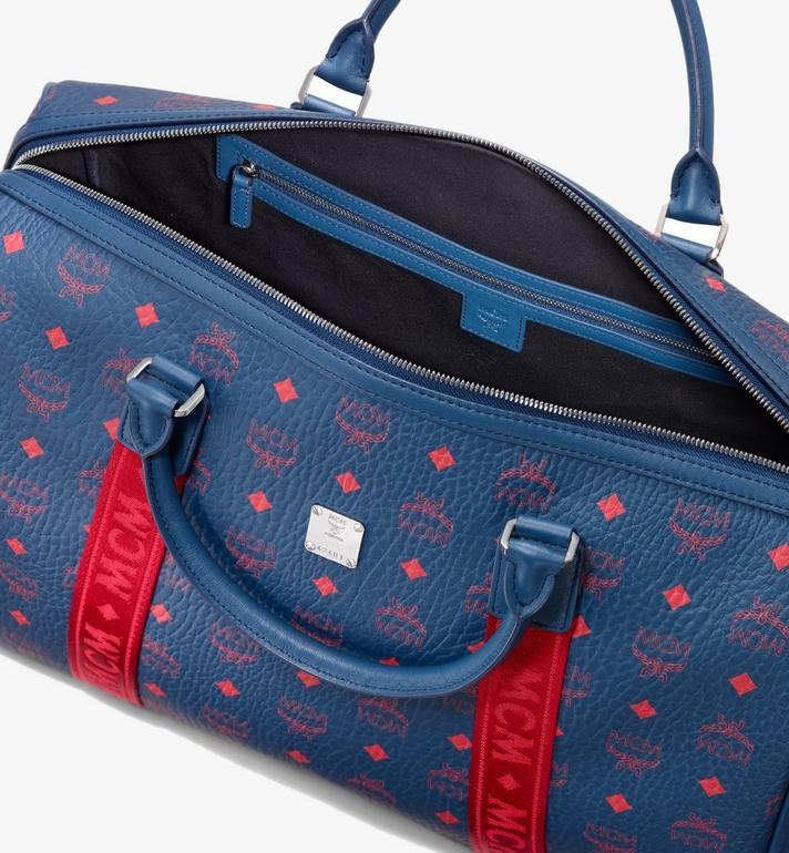 MCM Traveler Weekender Bag in Visetos Blue MUV9AVY51VS001 Alternate View 4
