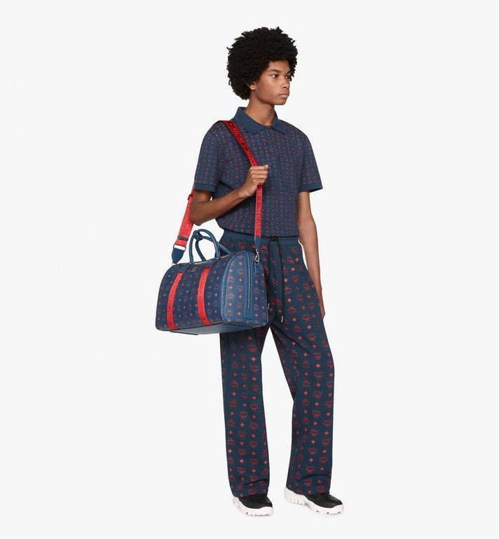MCM Traveler Weekender Bag in Visetos Blue MUV9AVY51VS001 Alternate View 5