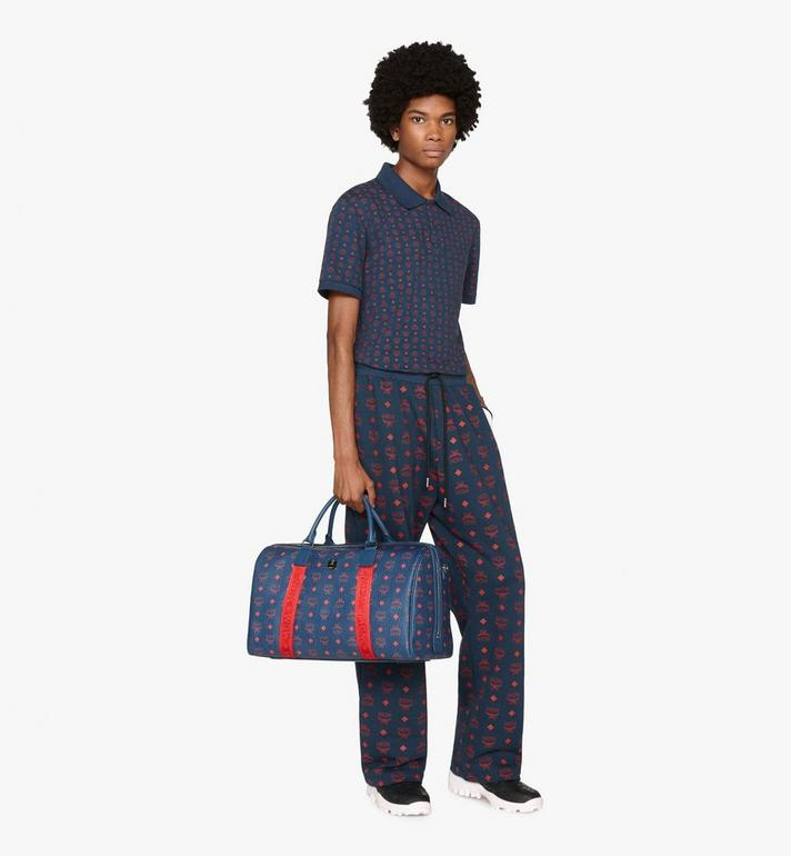 MCM Traveler Weekender Bag in Visetos Blue MUV9AVY51VS001 Alternate View 6