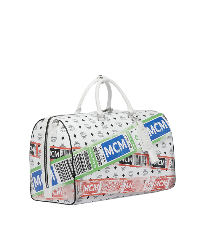 MCM Weekender für die Reise in Flight Print Visetos White MUV9SVY12WT001 Alternate View 2