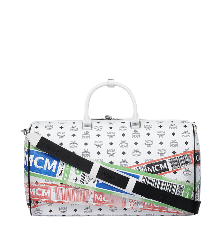 MCM Weekender für die Reise in Flight Print Visetos White MUV9SVY12WT001 Alternate View 4