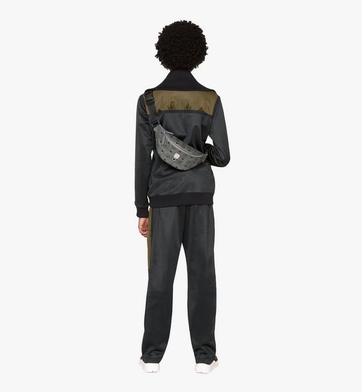 MCM Fursten Belt Bag in Visetos Grey MUZ9AFI27EP001 Alternate View 4