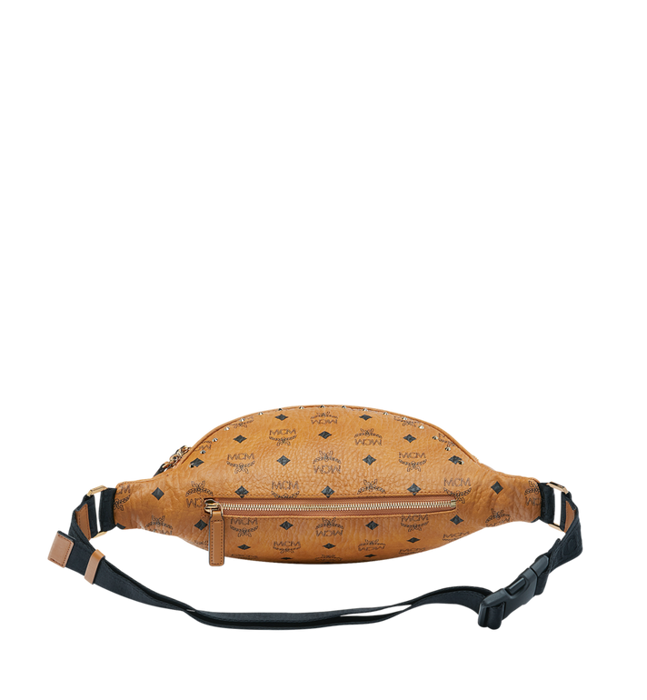 MCM Fursten Belt Bag in Studded Outline Cognac MUZ9SFI10CO001 Alternate View 4
