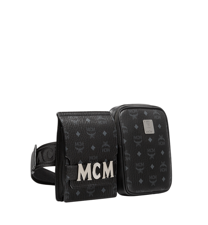 MCM Stark Modular Belt Bag in Visetos Black MUZ9SFI11BK001 Alternate View 2