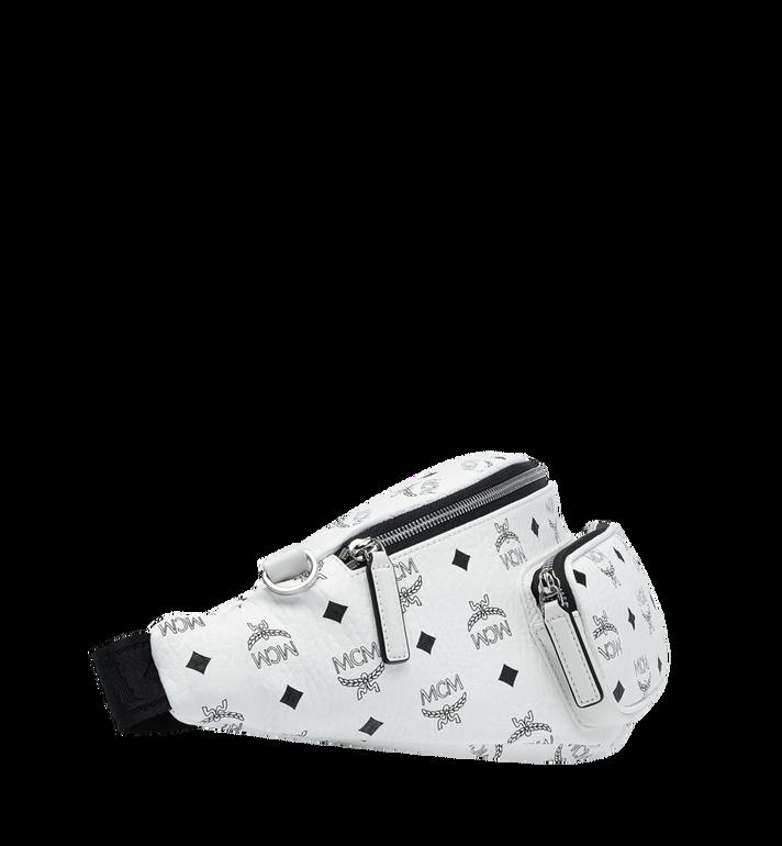 MCM Sac porté à la taille Fursten en Visetos White MUZ9SFI22WT001 Alternate View 3