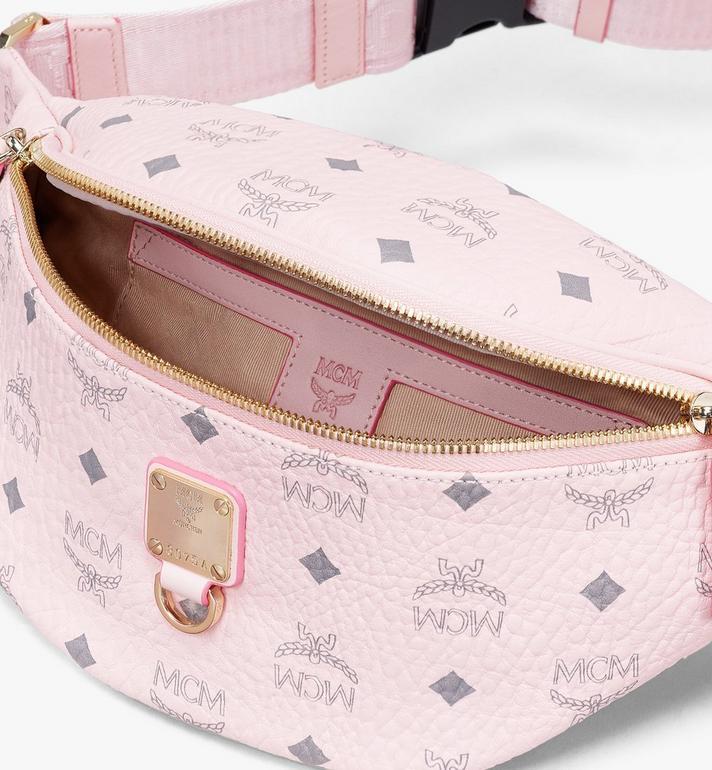 MCM Fursten Belt Bag in Visetos Pink MUZ9SFI27QH001 Alternate View 3