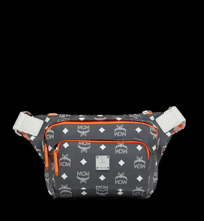 MCM Resnick Belt Bag in White Logo Nylon Alternate View