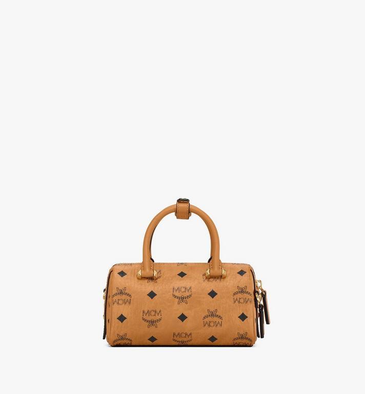 MCM Essential Boston Bag in Visetos Cognac MWB9ASE25CO001 Alternate View 4