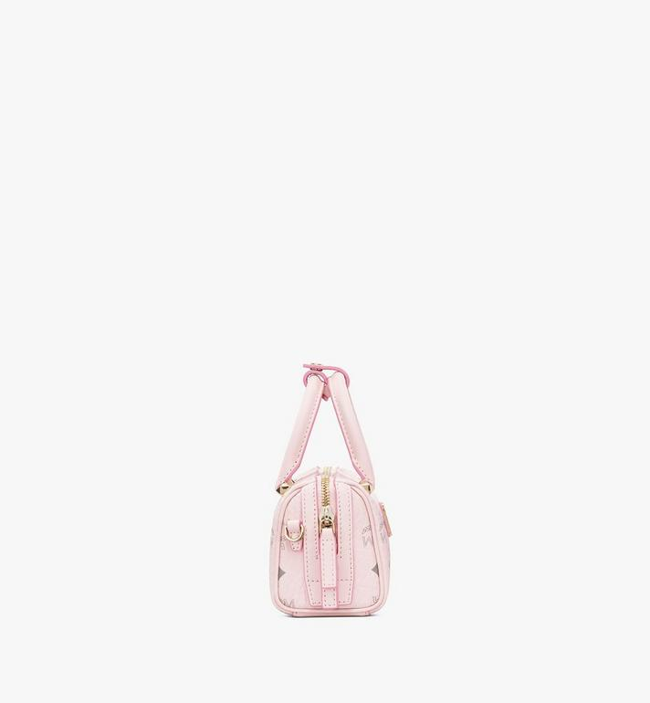 MCM Essential Boston Tasche in Visetos Original Pink MWB9ASE25QH001 Alternate View 2