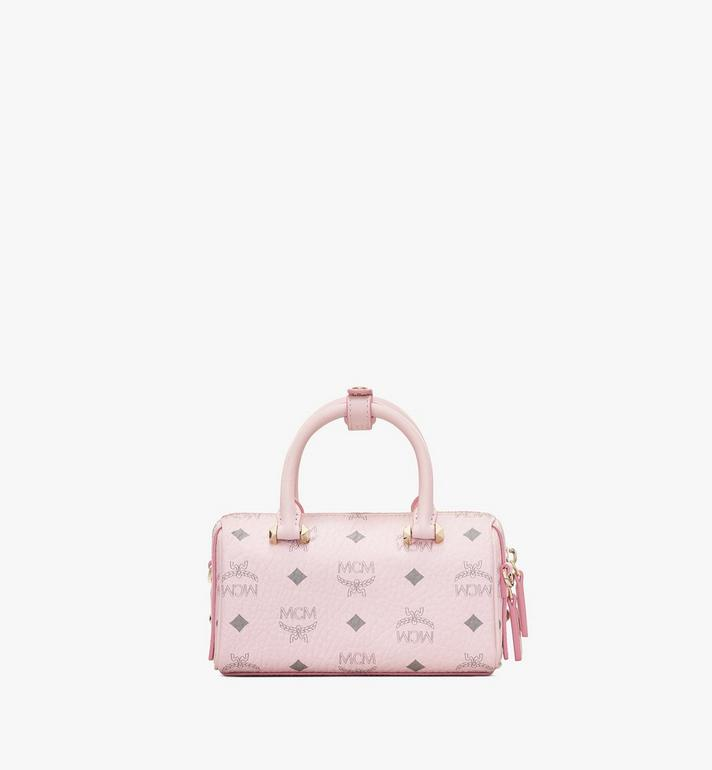 MCM Essential Boston Tasche in Visetos Original Pink MWB9ASE25QH001 Alternate View 3