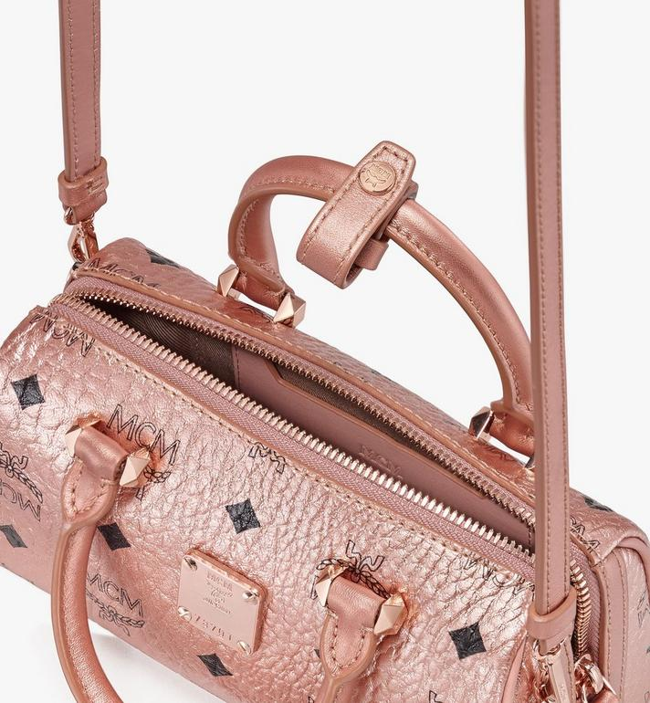 MCM Essential Boston Bag in Visetos  MWB9ASE27TC001 Alternate View 4