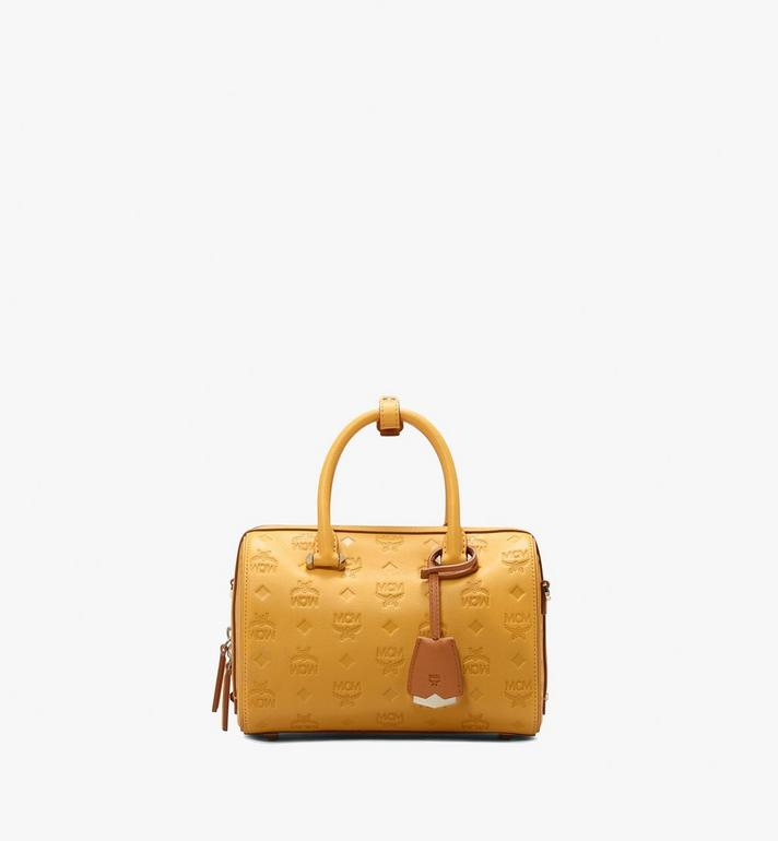 MCM Essential Boston Bag in Monogram Leather Alternate View