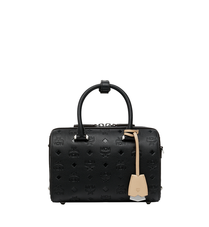 MCM Essential Boston in Monogram Leather Black MWB9SSE52BK001 Alternate View 1