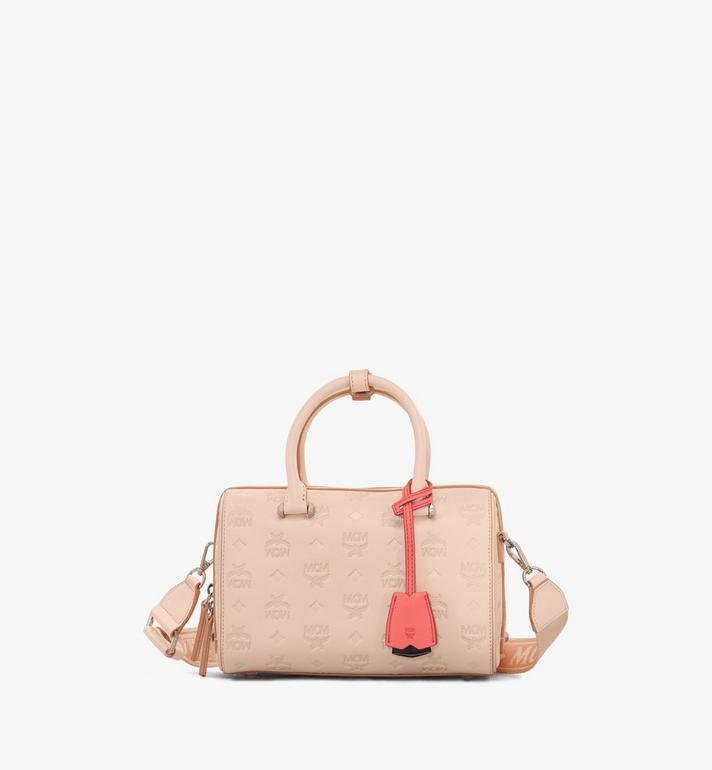 MCM Essential Boston Bag in Monogram Leather Alternate View