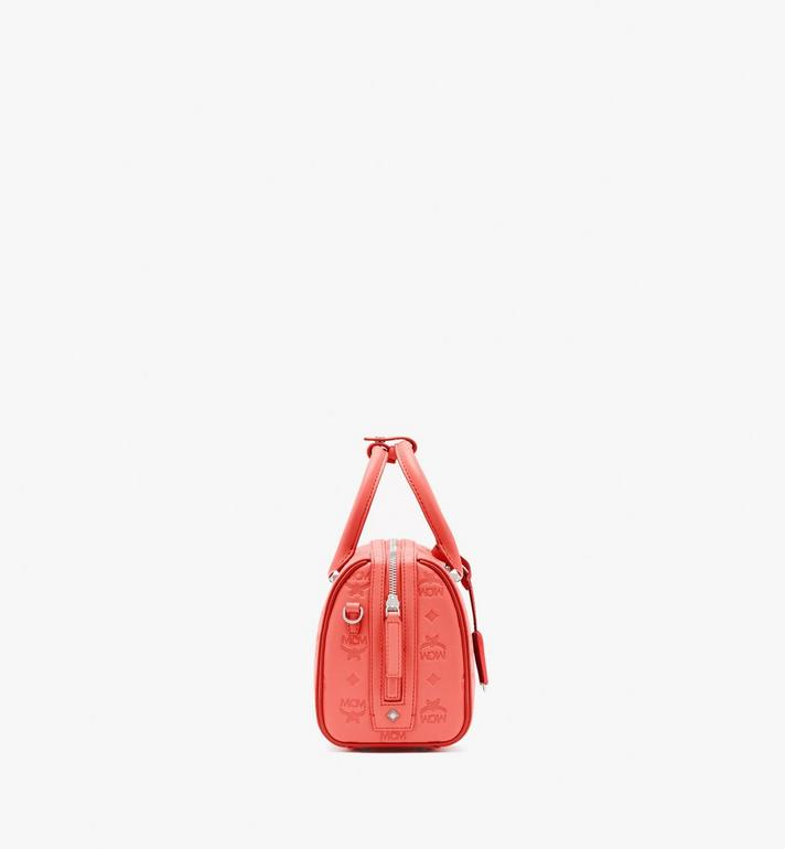 MCM Essential Boston Bag in Monogram Leather Pink MWB9SSE52O3001 Alternate View 3