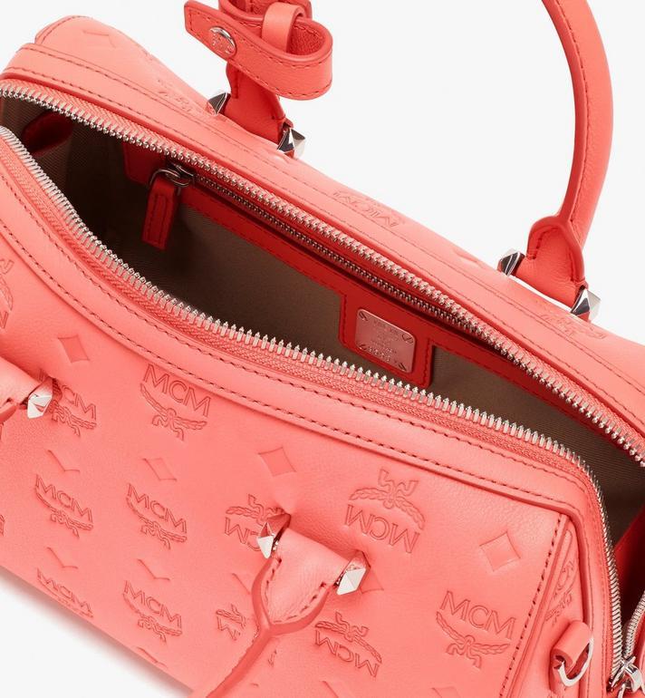 MCM Essential Boston Ledertasche mit Monogramm Pink MWB9SSE52O3001 Alternate View 6