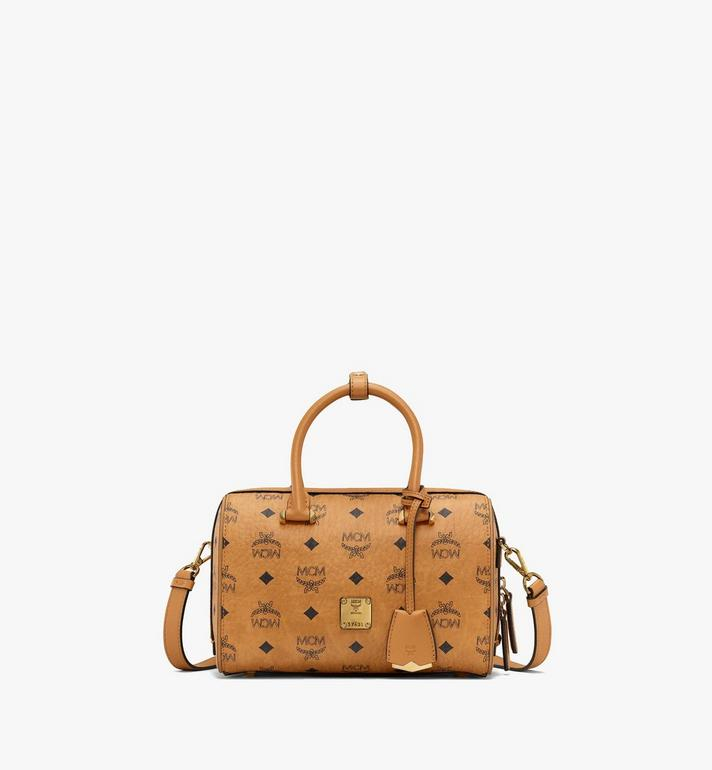 MCM Essential Boston in Visetos Cognac MWB9SSE67CO001 Alternate View 1