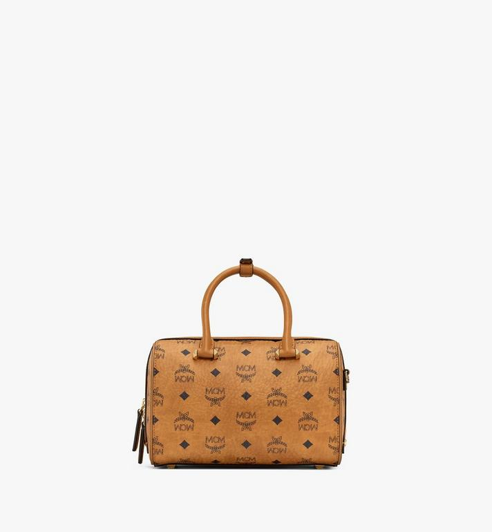 MCM Essential Boston in Visetos Cognac MWB9SSE67CO001 Alternate View 4