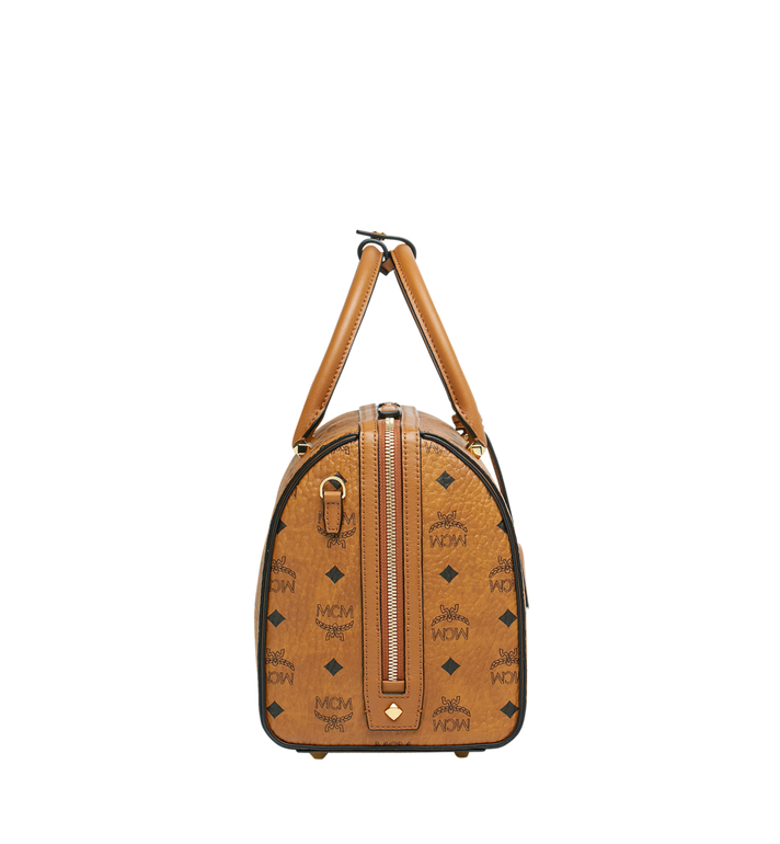 MCM Essential Boston in Visetos Cognac MWB9SSE68CO001 Alternate View 3