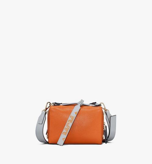 Milano Boston-Tasche aus Ziegenleder in Colorblock Design