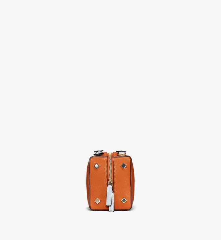 MCM Milano Boston Bag in Color Block Goatskin Leather Orange MWBAADA01O4001 Alternate View 2