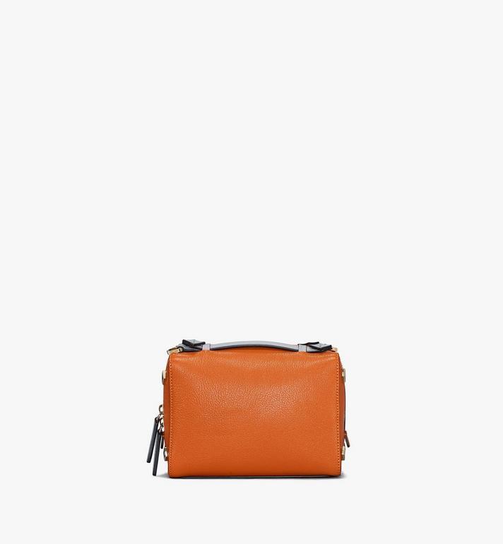 MCM Milano Boston Bag in Color Block Goatskin Leather Orange MWBAADA01O4001 Alternate View 4