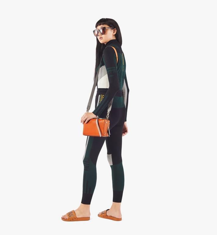 MCM Milano Boston Bag in Color Block Goatskin Leather Orange MWBAADA01O4001 Alternate View 5