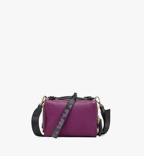 Milano Boston-Tasche aus Ziegenleder in Colorblock Design