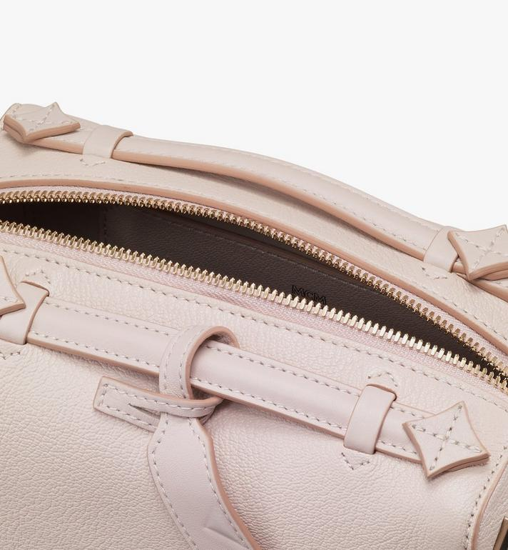 MCM Milano Boston Bag in Goatskin Leather Pink MWBASDA02IH001 Alternate View 4