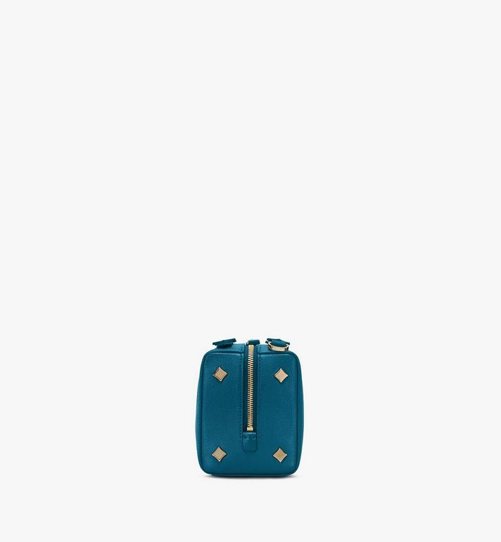 MCM Milano Boston Bag in Goatskin Leather Blue MWBASDA02JF001 Alternate View 2