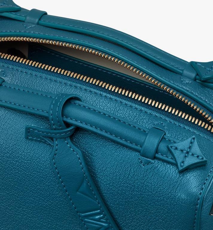 MCM Milano 山羊皮波士頓包 Blue MWBASDA02JF001 Alternate View 4