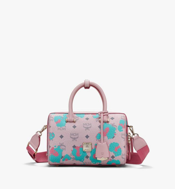 MCM Essential Boston Bag in Floral Leopard Alternate View