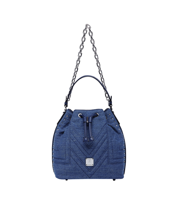 MCM Heritage Drawstring in Denim Alternate View