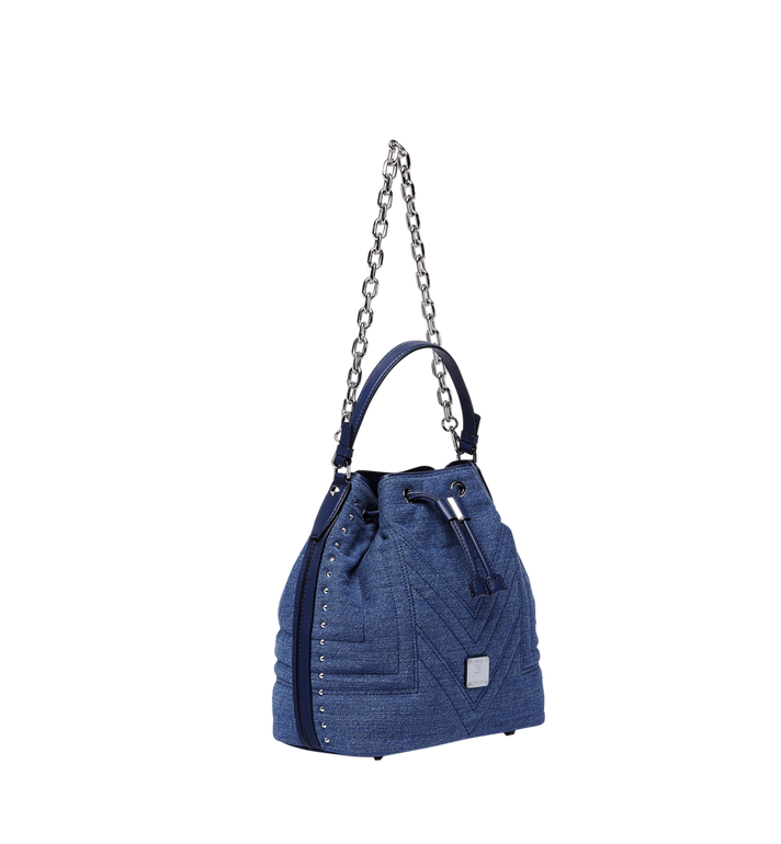 MCM Heritage Drawstring in Denim Alternate View 2