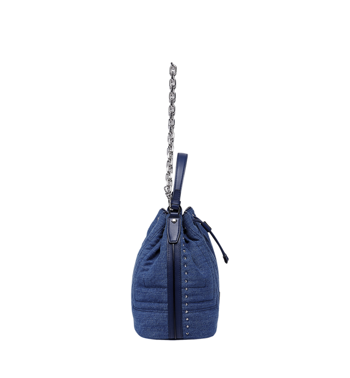 MCM Heritage Drawstring in Denim Alternate View 3