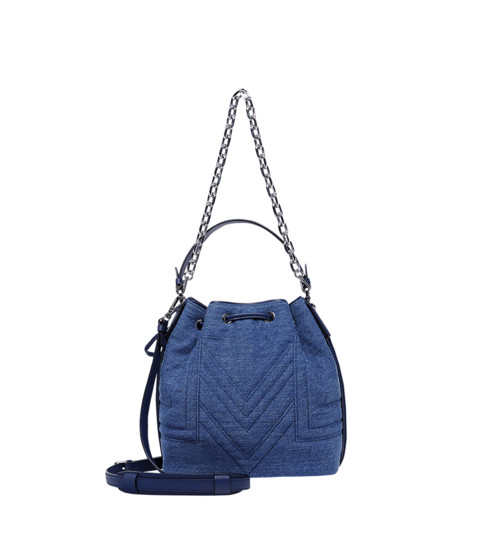 MCM Heritage Drawstring in Denim Alternate View 4