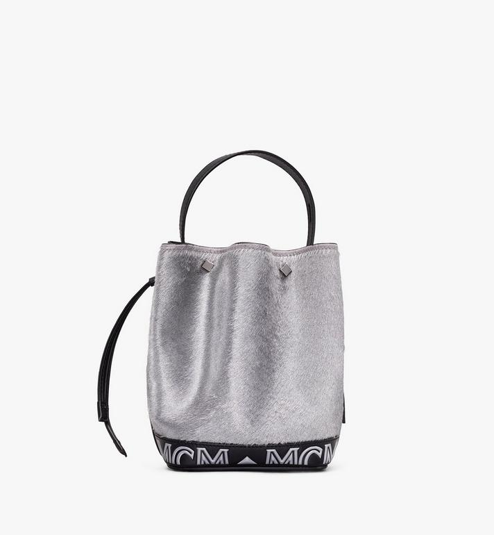 MCM Milano Calf Hair Mini Drawstring Bag Alternate View