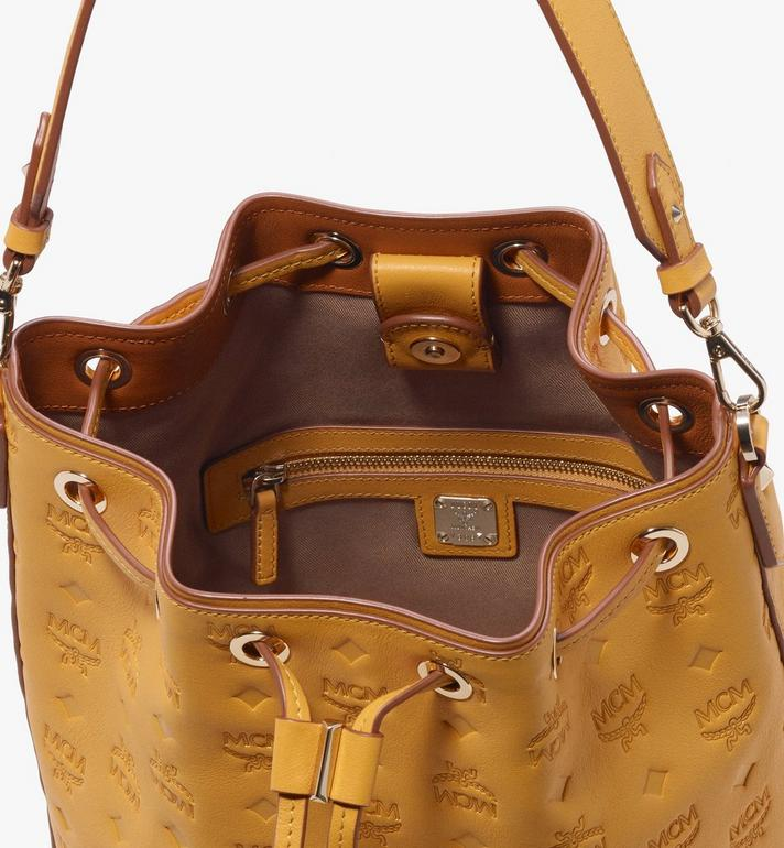 MCM Essential Drawstring in Monogram Leather Alternate View 5