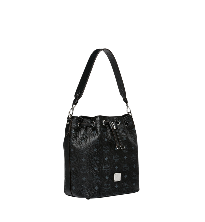 MCM Essential Drawstring in Visetos Black MWD9SSE71BK001 Alternate View 2