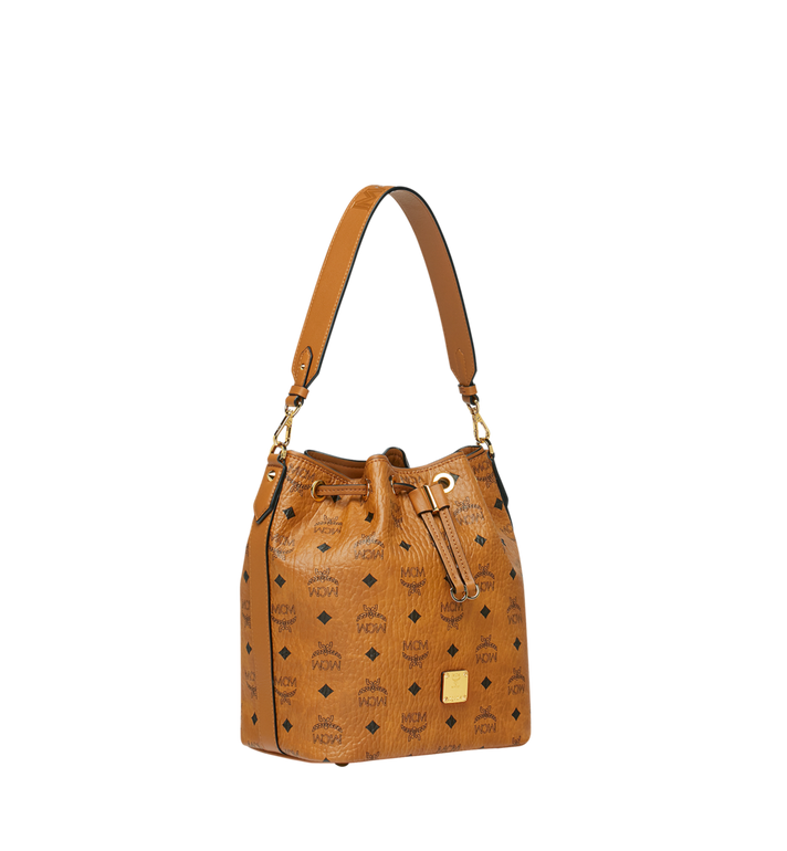 MCM Essential Drawstring in Visetos Cognac MWD9SSE71CO001 Alternate View 2