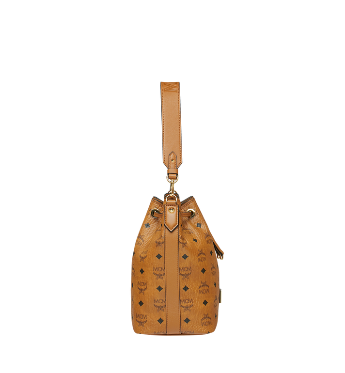 MCM Essential Drawstring in Visetos Cognac MWD9SSE71CO001 Alternate View 3