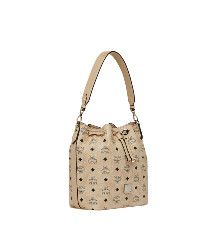 MCM Essential Drawstring in Visetos Beige MWD9SSE71IG001 Alternate View 2