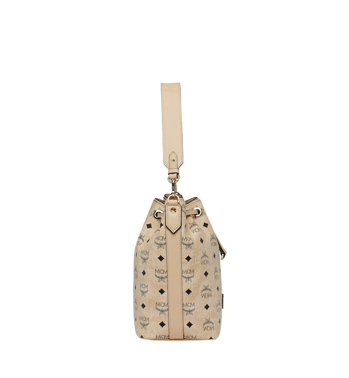 MCM Essential Drawstring in Visetos Beige MWD9SSE71IG001 Alternate View 3