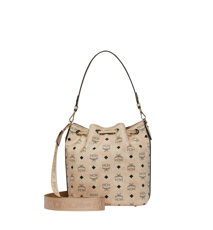 MCM Essential Drawstring in Visetos Beige MWD9SSE71IG001 Alternate View 4