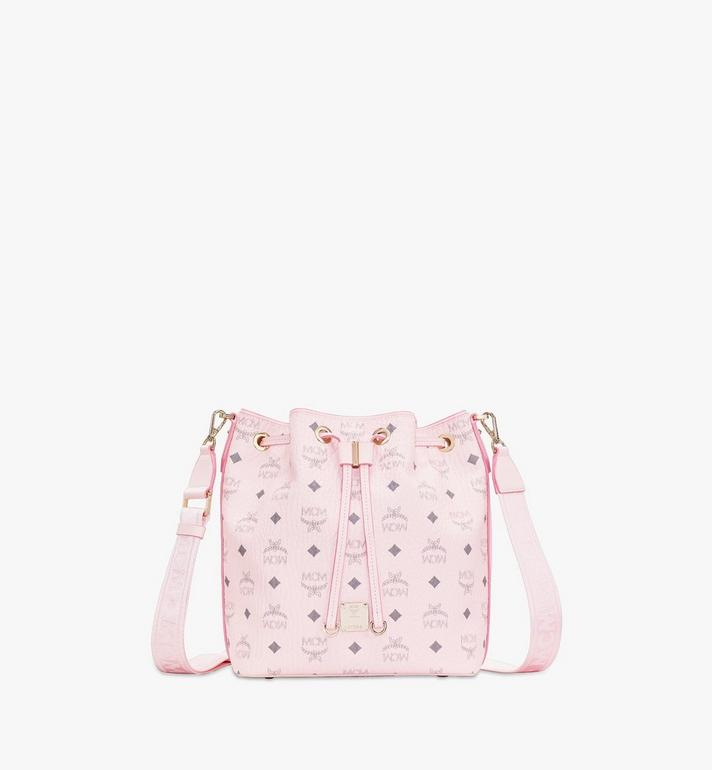 MCM Essential Drawstring Bag in Visetos Original Pink MWD9SSE71QH001 Alternate View 1