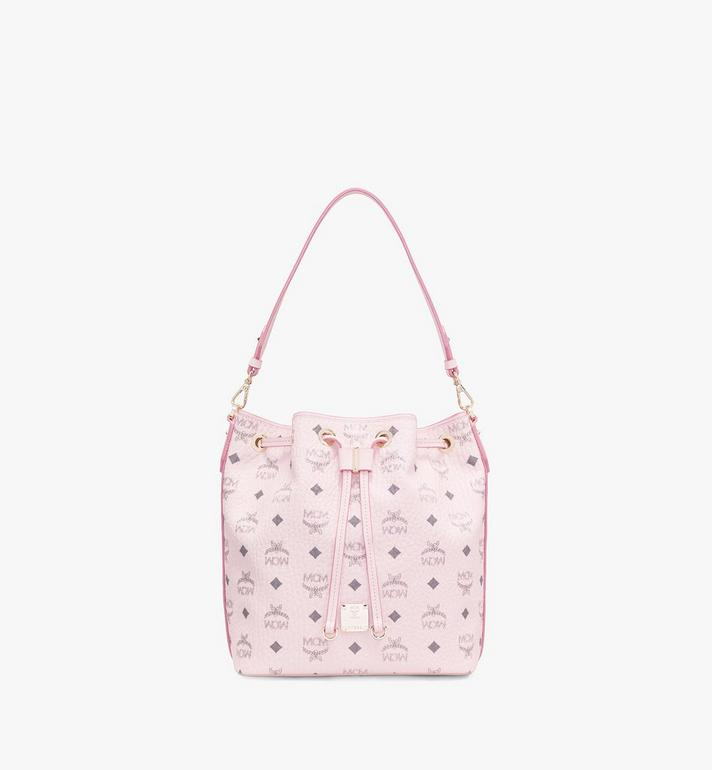MCM Essential Drawstring Bag in Visetos Original Pink MWD9SSE71QH001 Alternate View 2