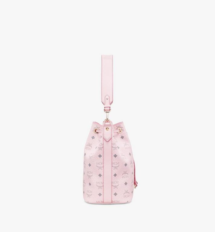 MCM Essential Drawstring Bag in Visetos Original Pink MWD9SSE71QH001 Alternate View 3