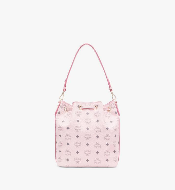 MCM Essential Drawstring Bag in Visetos Original Pink MWD9SSE71QH001 Alternate View 4
